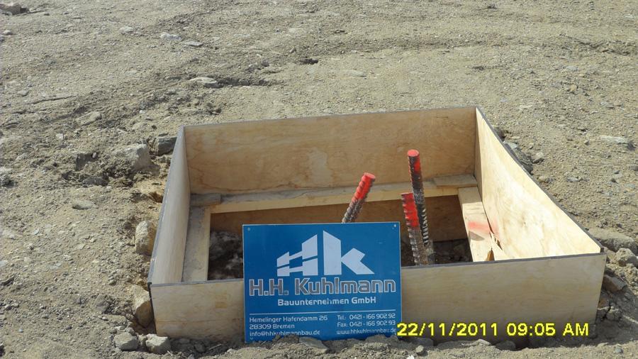 Beton und Stahlarbeiten